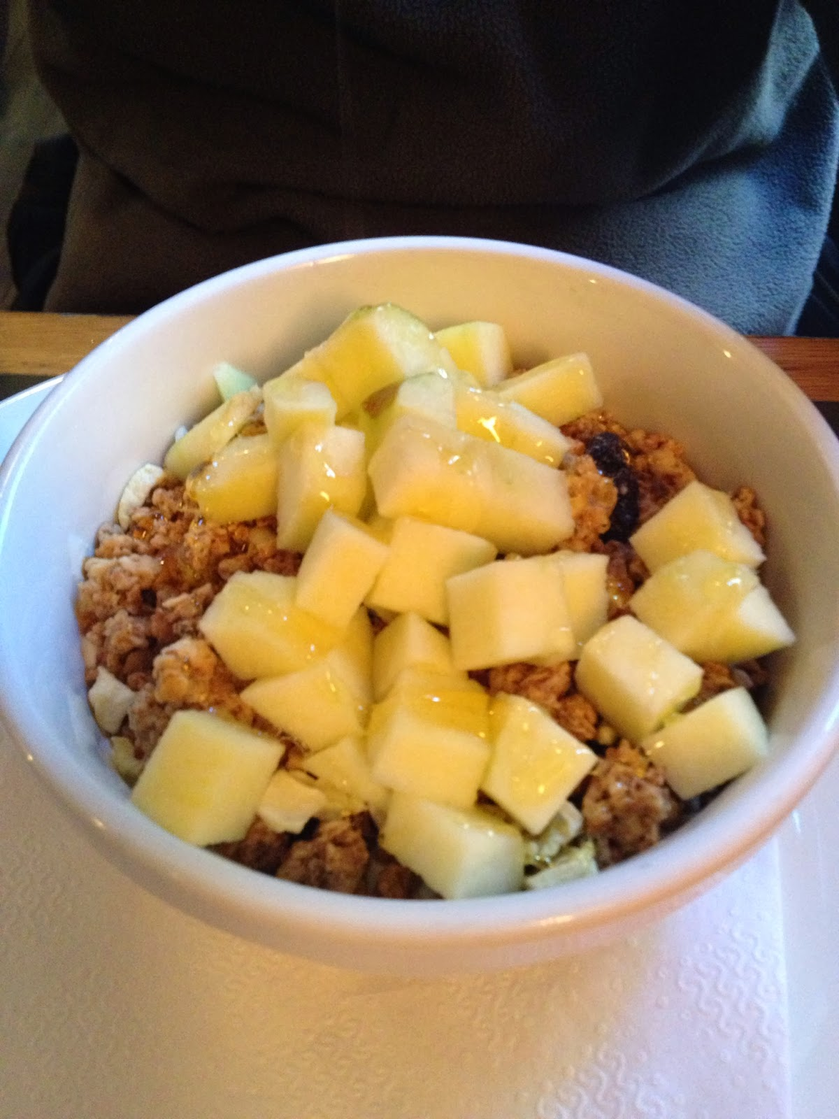 Amsterdam - Granola with yogurt, apples, and honey at Winkel 43