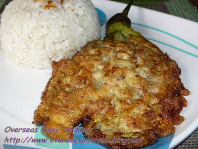Eggplant Omelet with Ground Pork