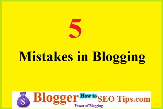 Mistakes in Blogging, SEO Mistakes