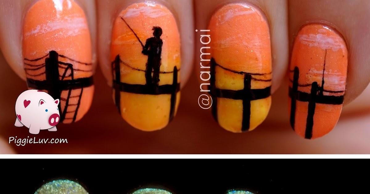 Piggieluv Fisherman39s Sunrise Nail Art Glow In The Dark