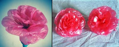 bunga mawar dari plastik