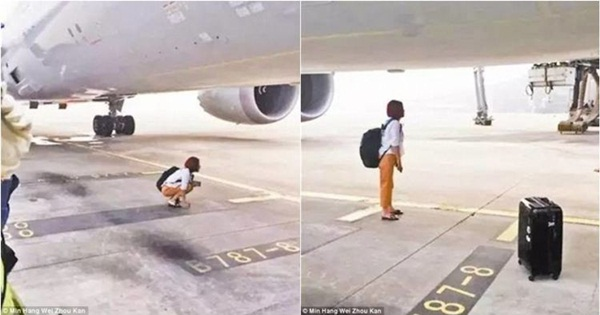 Telat datang, Wanita ini Nekat Menghalangi Laju Pesawat yang Mau Di Naikinya di Landasan Pacu