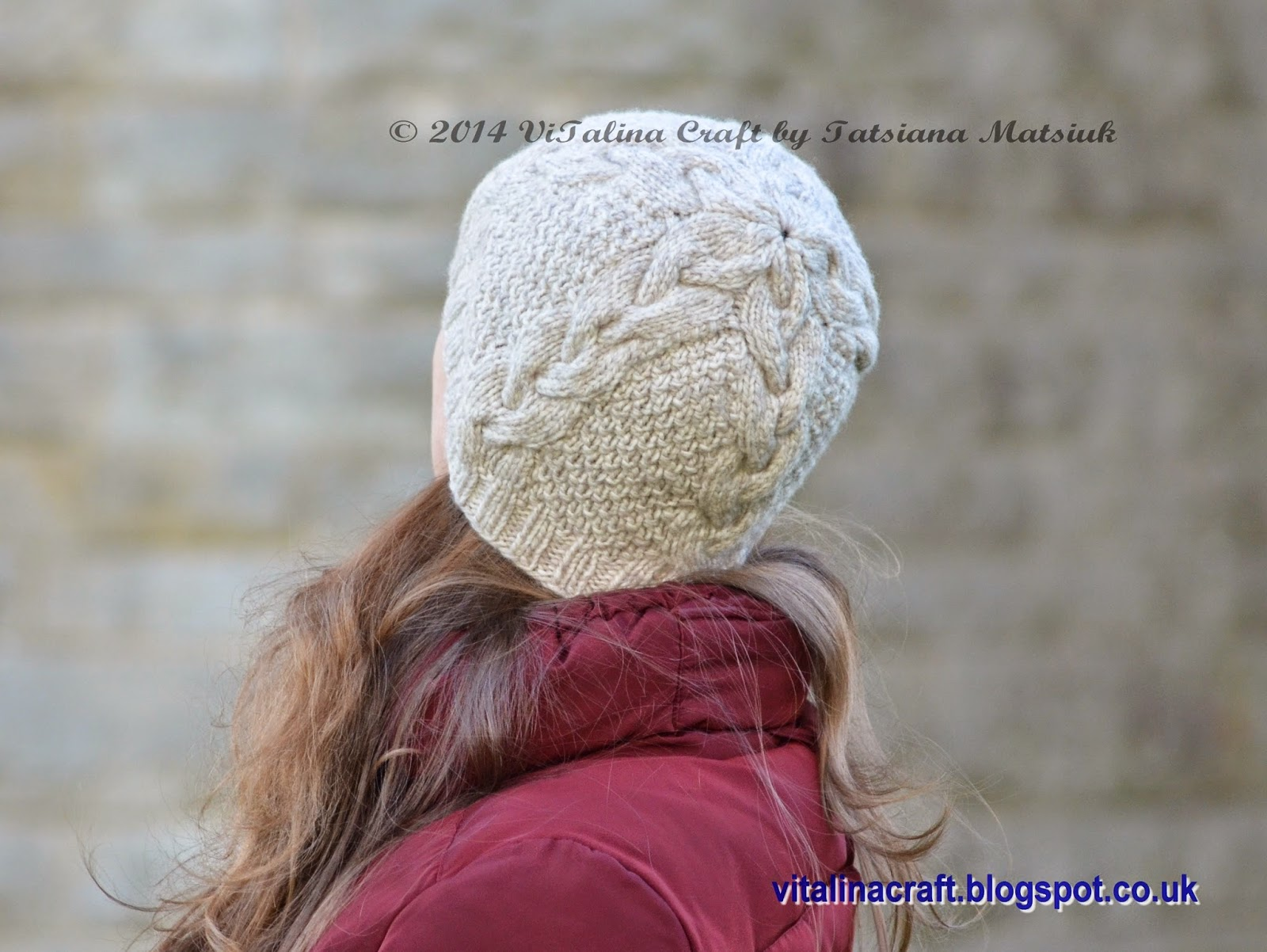9ed9c1920e98 This hat has the matching cable pattern with my Vanilla Cloud Poncho and  Hat set I have recently designed for my daughter. I used Cascade Ecological  wool ...