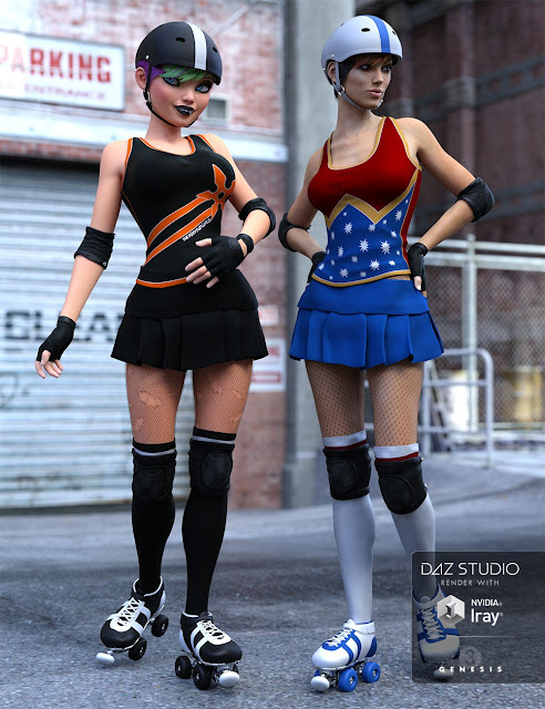 Derby Girl for Genesis 3 Female