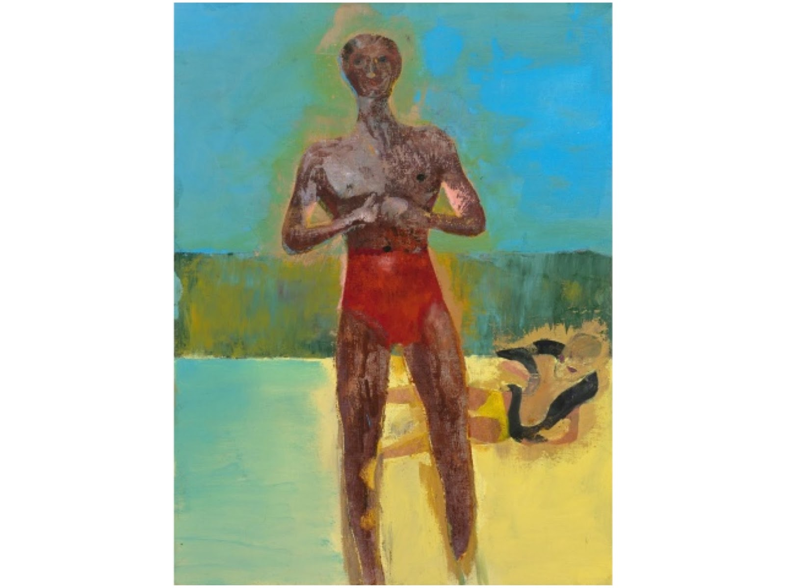 Bather II, Peter Doig