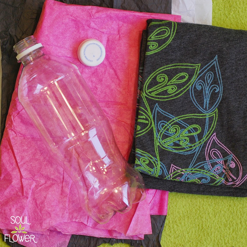 5 diy bottle mail supplies - 13 Oz or Less - A Recycled Bottle Mailer DIY