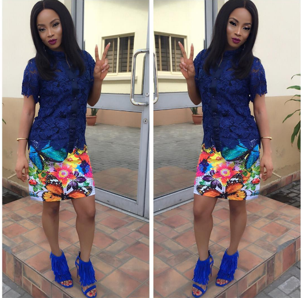 Toke Makinwa steps out in urban look