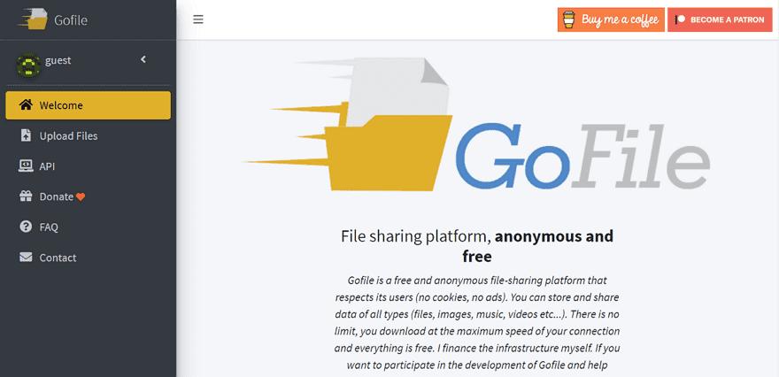 Gofile 免費檔案分享空間,免帳戶沒有數量/容量限制,最高速度上傳/下載 - 逍遙の窩