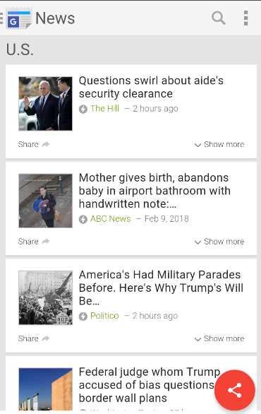 google national news