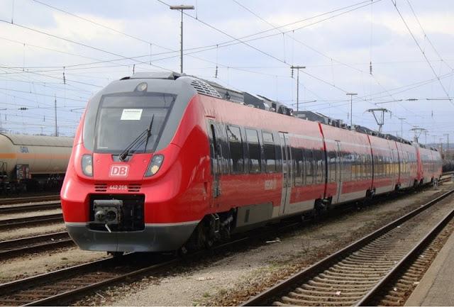 Viagem de trem na Alemanha