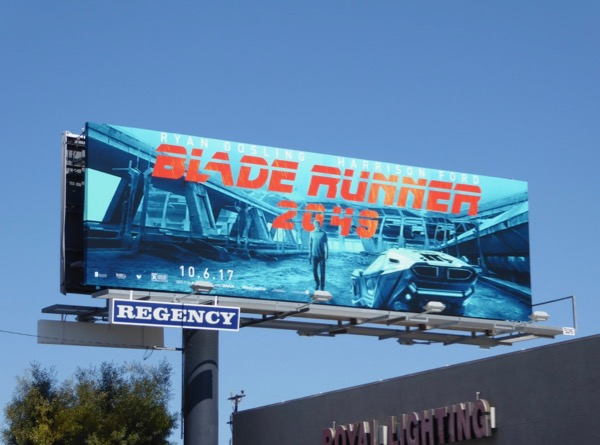 Harrison Ford Blade Runner 2049 billboard