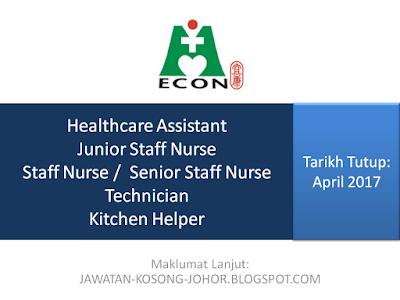 Jawatan Kosong Di Econ Healthcare Group (EHG) Johor