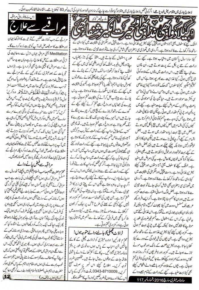 Page 12 Ubqari Magazine March 2016