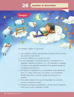 Apoyo Primaria Desafíos matemáticos 1er grado Bimestre 2 lección 26 Juanito el dormilón