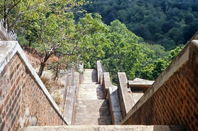 Steps on the Sigiriya Rock