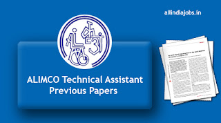 ALIMCO Technical Assistant Previous Papers