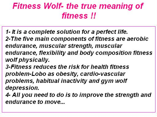 Fitness wolf... the true meaning of fitness !! ~ How To ...