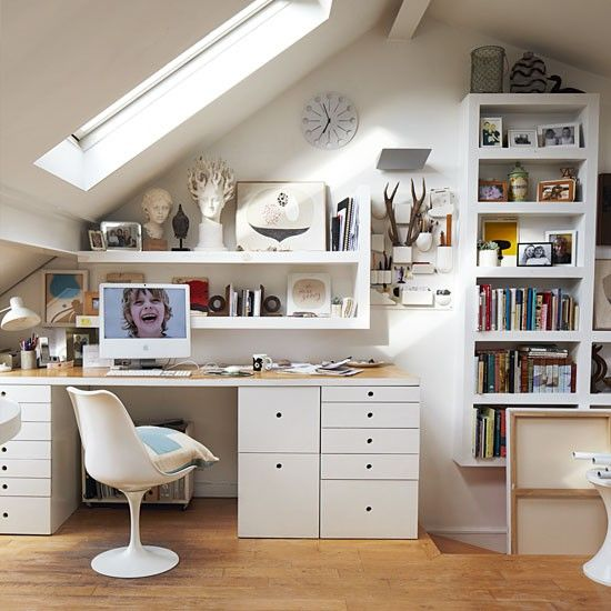 Loft space used as a study