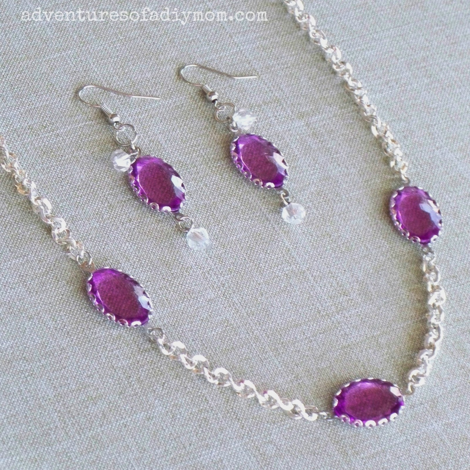 Violet Necklace and Earring
