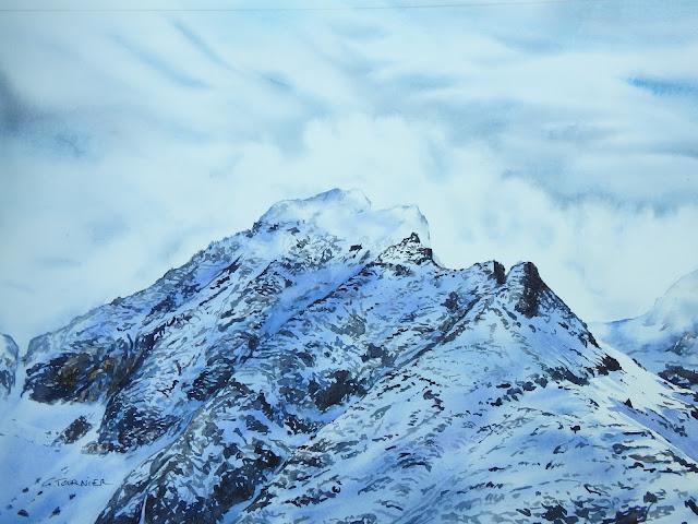 #Aquarelle montagne  #Ecrins #Rhône Alpes