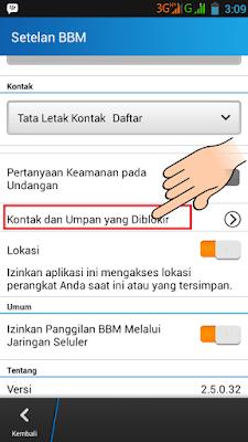 Cara Menyembunyikan Update Status Kontak BBM Android