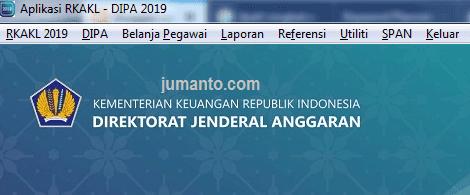 menu aplikasi rkakl 2019