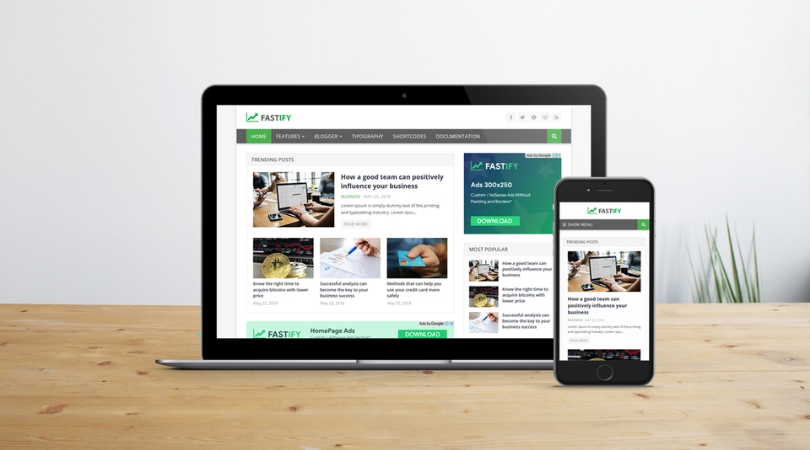 Fastify - Responsive Blogger Template