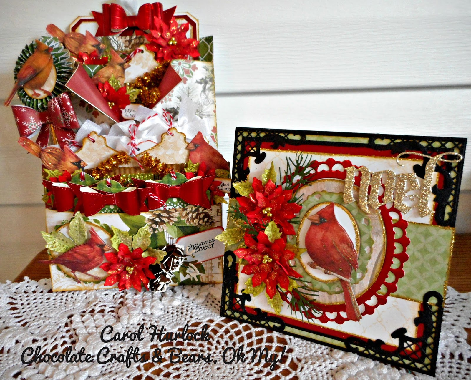 Chocolate Crafts And Bears Oh My Cardinal Themed Loaded Envelope