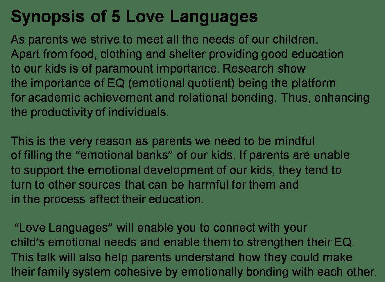 Peirce Sec Parent Support Group Ppsg 5 Love Languages Of Your Child Jun