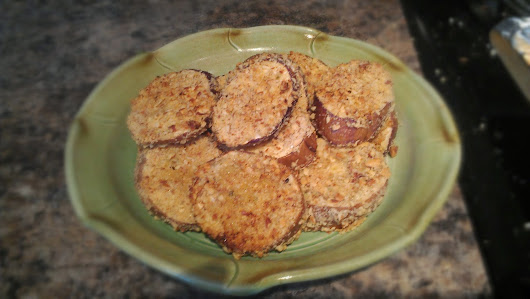 Almond Crusted Eggplant