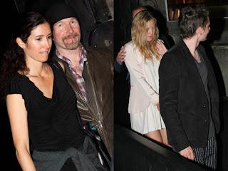 Bono, Edge y Larry en la fiesta de cumpleaños de Julian Lennon 3