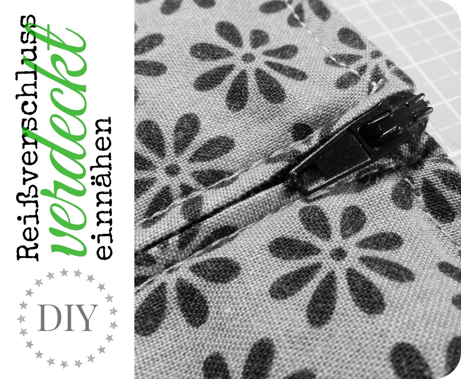 kleine fluchten verdeckter rei verschluss in super easy tutorial. Black Bedroom Furniture Sets. Home Design Ideas