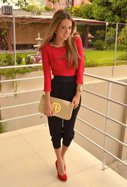 The Cool And Casual One! Red and Black Combo