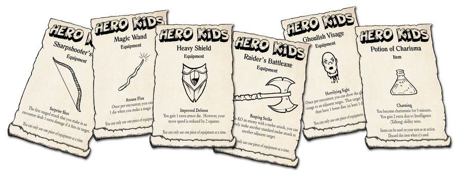 Hero Kids - Fantasy Expansion - Equipment Cards - Hero Forge Games