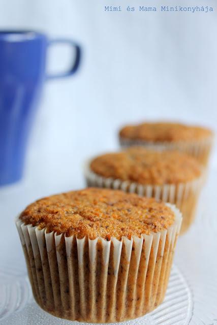 Diós répás muffin