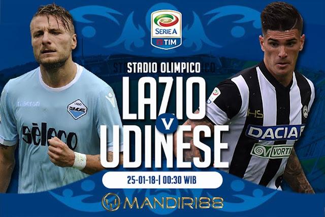 Prediksi Lazio Vs Udinese , Kamis 25 January 2018 Pukul 00.30 WIB