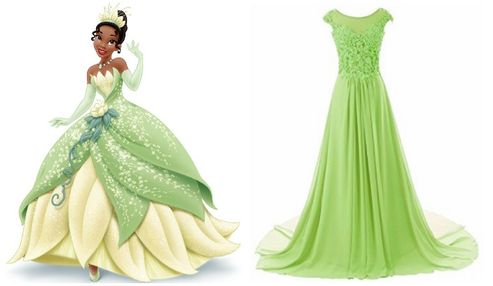 Disney Inspired Prom Dresses To Wear Princess And The Frog Tiana Lime Green Dress
