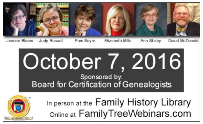 UpFront with NGS: BCG\'s FREE Day of Quality Genealogy Education (7 ...