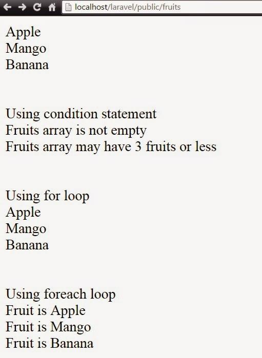 Laravel Tutorials: Condition and loops in laravel