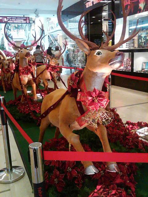 Dekorasi Natal di Mall patung styrofoam