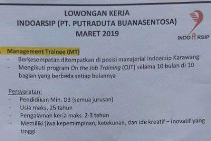 Lowongan Kerja INDOARSIP Karawang (PT Putraduta Buanasentosa)
