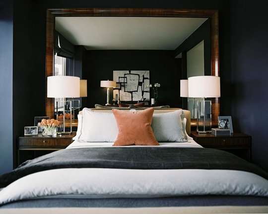 modern transitional bedroom design interior design tips decorating navy black walls
