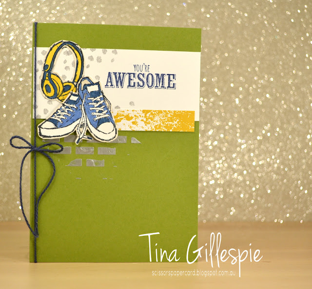 scissorspapercard, Stampin' Up!, CASEing The Catty, Epic Celebrations, Colour Theory, Embossing Paste, Blends