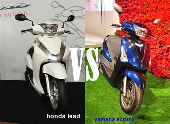 Komparasi Honda Lead dan Yamaha Acruzo