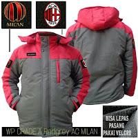 Jaket Bola Waterproof AC Milan Murah