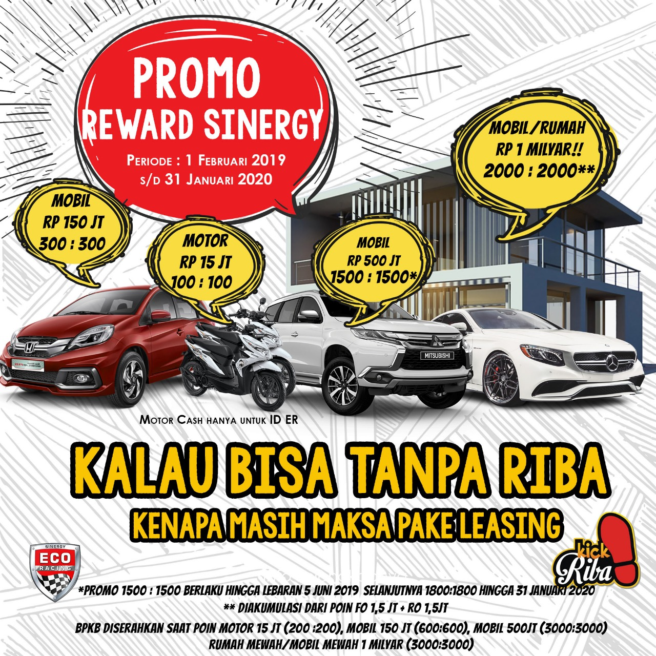 Bisnis Eco Racing 2019 Promo Reward Sinergy