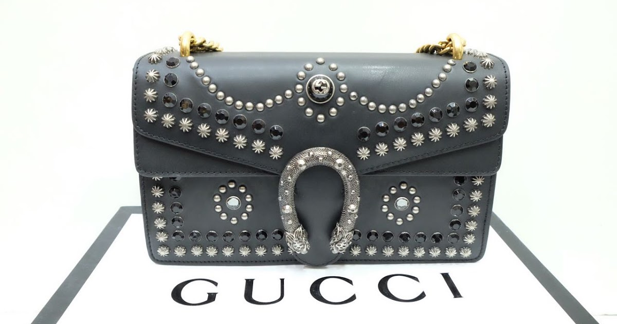 Kinda Kollection  Gucci Dionysus Medium Studs Limited Edition Box Leather  With Gold Vintage Chain Mirror Original Leather Bag 0e29136e56