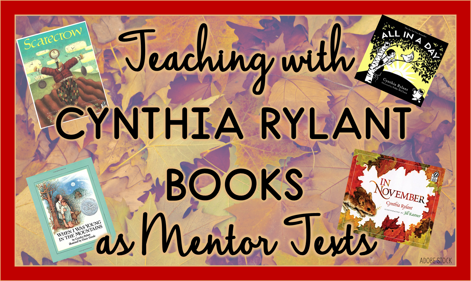 Cynthia Rylant is one of the best descriptive writers. This post includes ten of her best books and how one teacher uses them as mentor texts for reading and writing.