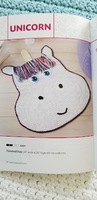 Crochet a Unicorn Rug Pattern for Kids Bedroom