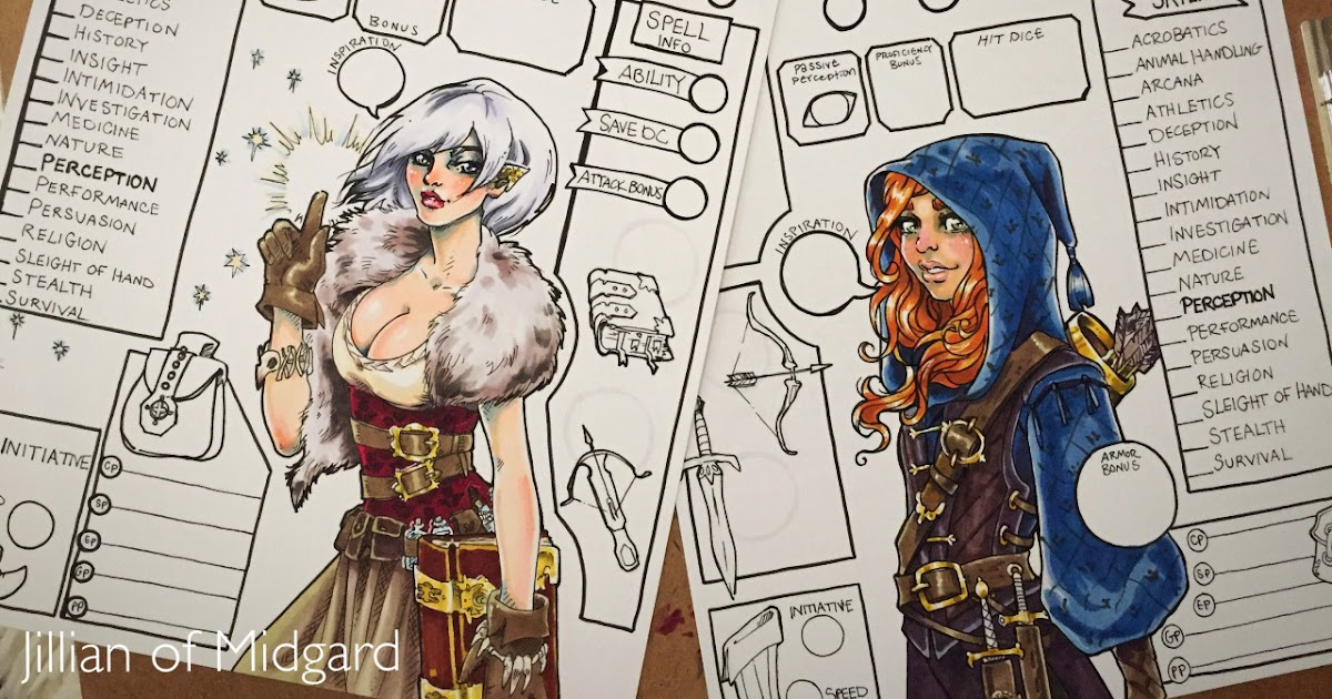 Nerdovore: Custom D&D Character Sheets, Artistic